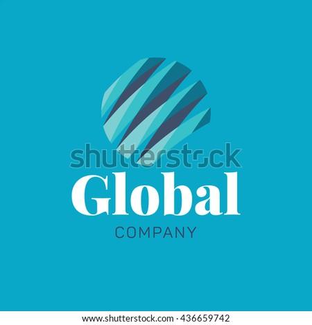 abstract globe logo template