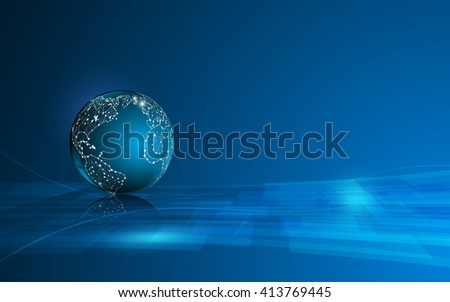 abstract globe networking technology innovation design concept background