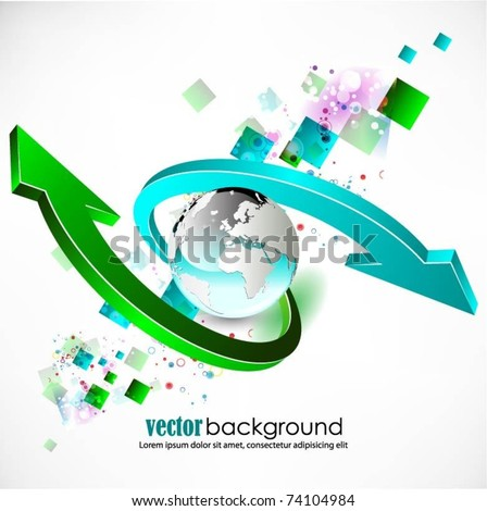 abstract globe vector background