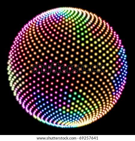 Abstract globe. Vector illustration.