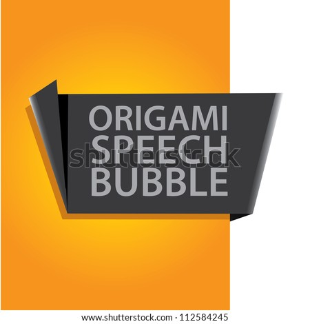 stock-vector-abstract-glossy-black-and-orange-origami-speech-bubble-vector-abstract-background-orange-brochure