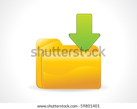 facebook icon vector download. stock vector : abstract glossy download icon vector illustration