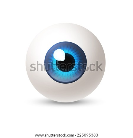 abstract glossy eye on white