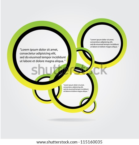 Abstract glossy green modern speech bubble. Vector abstract background. Green brochure. - stock vector