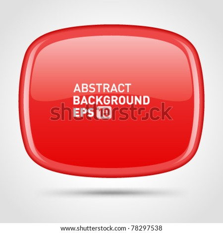 Abstract glossy speech bubble vector background with transparent. Eps 10.