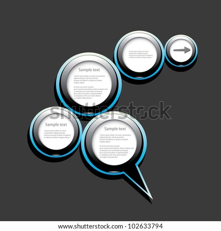 Abstract glossy speech bubble. Vector illustration.