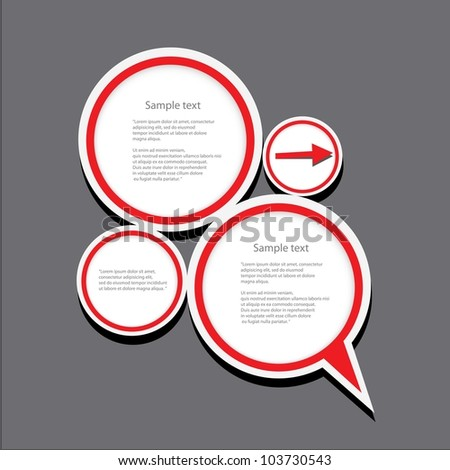 Abstract glossy speech bubble. Vector illustration.