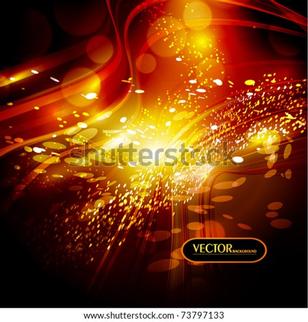 Abstract glow background. Vector
