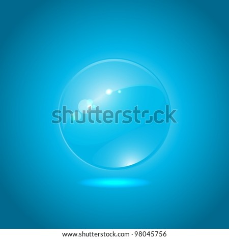 Abstract glow form on blue background  EPS10 vector   File Contains transparency