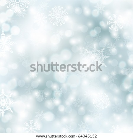 abstract glowing Christmas background in blue