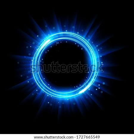 Abstract Glowing Circle, Elegant Illuminated Light ring. Vector Illustration
