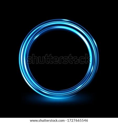 Abstract Glowing Circle, Elegant Light ring. Vector Illustration
