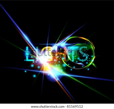 Abstract glowing design elements
