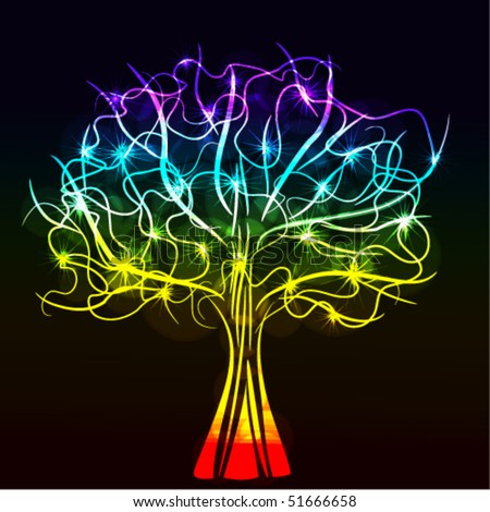 Stock Photo abstract glowing tree, eps10 format