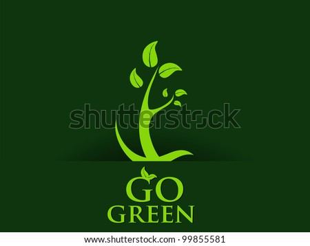 Abstract go green concept background. EPS 10. Vector illustration.