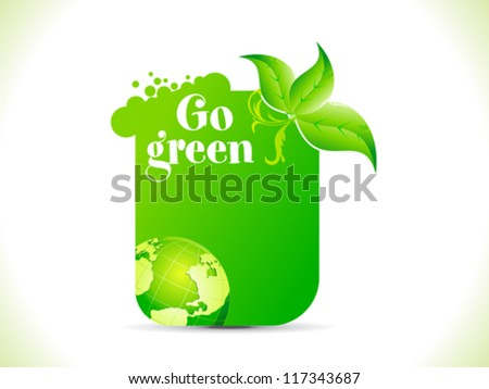 abstract go green template vector illustration