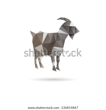 Abstract goat isolated on a white backgrounds, vector illustration