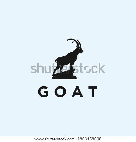 abstract goat logo goat icon
