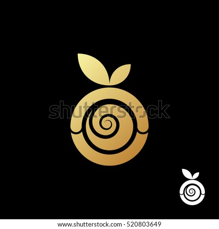 abstract gold apple logo