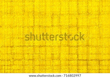 Abstract gold background with texture of canvas. Abstract background in style of Gustav Klimt painting.