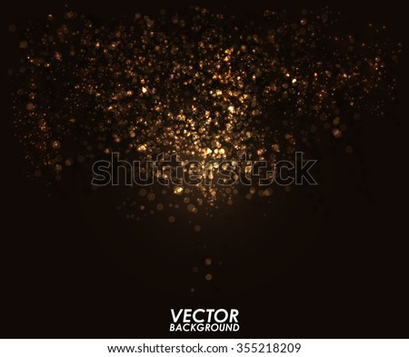 abstract gold bokeh digital