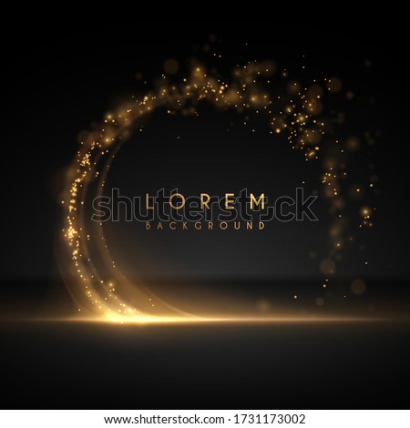 Abstract gold circle light background