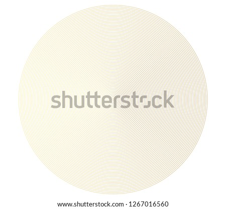 Abstract gold color circle vector background. Modern graphic template. Circles going to the center. Monochrome graphic. #1267016560