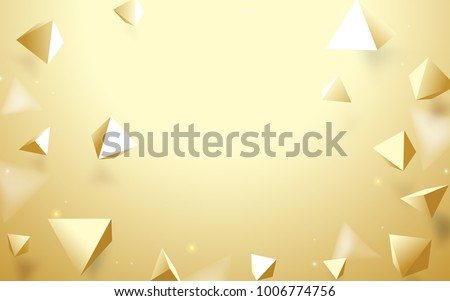 abstract gold 3d pyramids