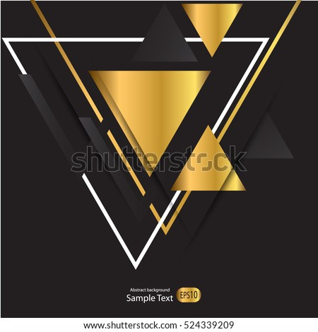 abstract gold geometric vector
