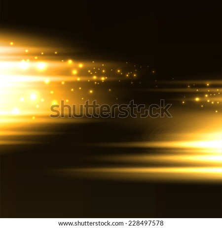 abstract gold light lines