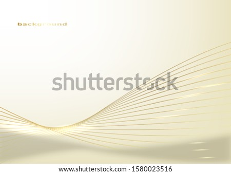 Abstract gold light threads background. Vector