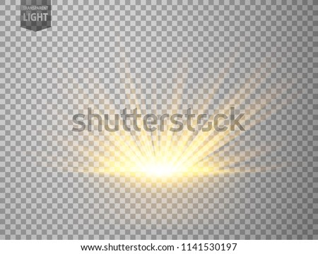 Abstract Gold Rays rising. isolated on transparent background. Vector Illustration