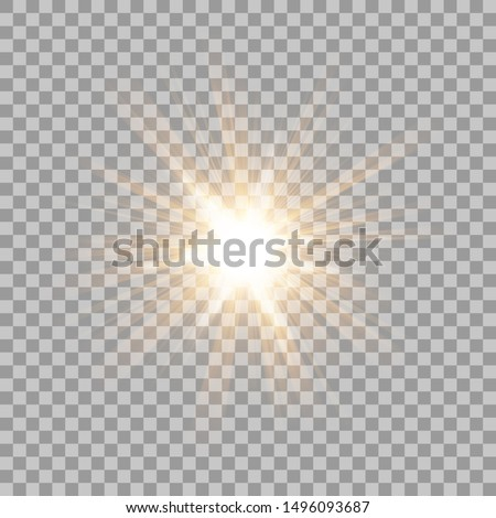 Abstract Gold Rays shine. isolated on transparent background. Vector Illustration