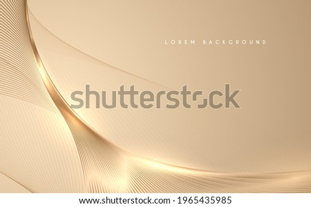 Abstract gold threads background with glow effect