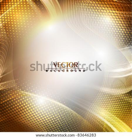 Abstract golden background. Vector