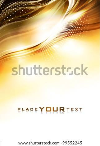 Abstract golden background. Vector - stock vector