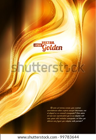 Abstract golden background. Vector