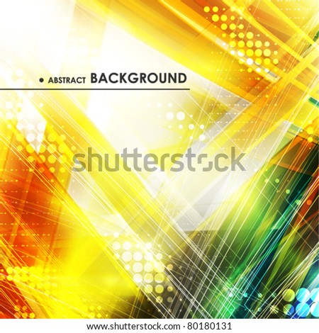 Abstract golden background with lighting effect. Vector