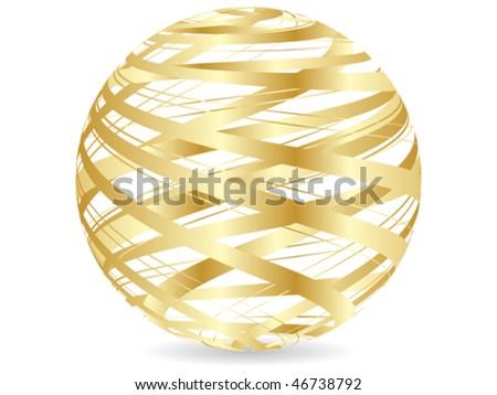 abstract golden ball