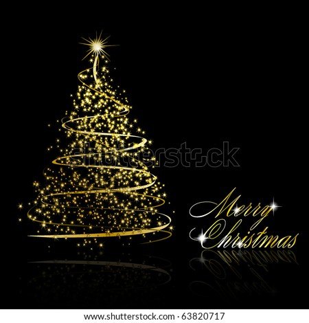 Vector Images Illustrations And Cliparts Abstract Golden Christmas
