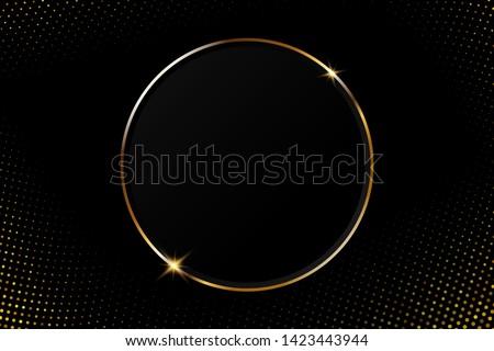 abstract golden circular frame