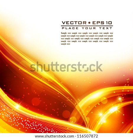 Abstract golden element for greeting card. Vector