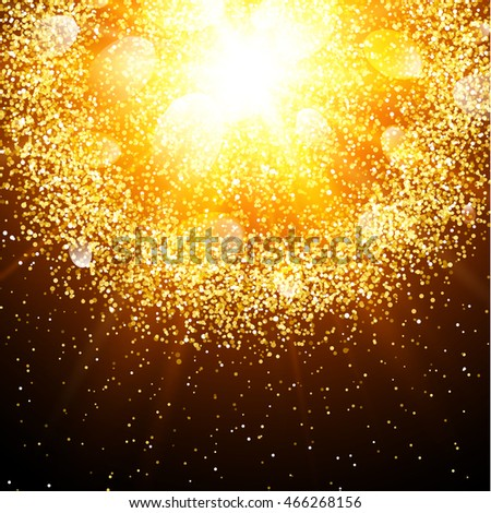 abstract golden explosion with