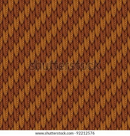 Abstract golden fleece weaving textured fabric background. Vector. - stock vector