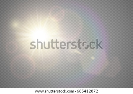 abstract golden front sun lens