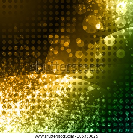 abstract golden glowing neon background