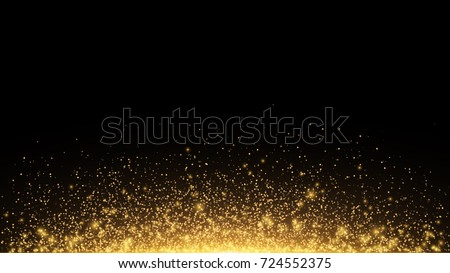 abstract golden lights with
