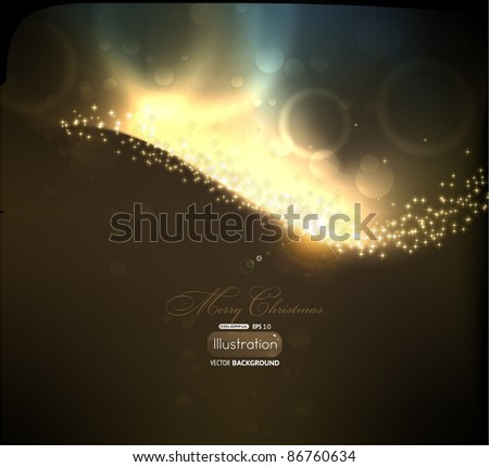 Abstract golden lines on black background. Vector eps10 illustration