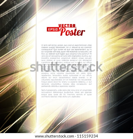 Abstract golden metallic digital background. Vector
