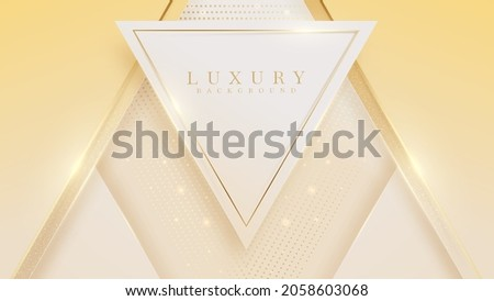 Abstract golden triangle shape luxury background